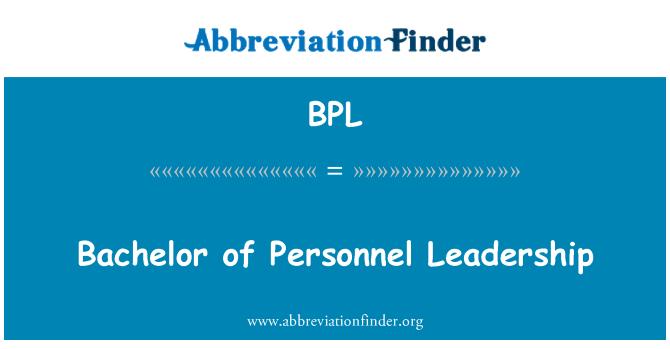 BPL: Bachelor of Personnel Leadership