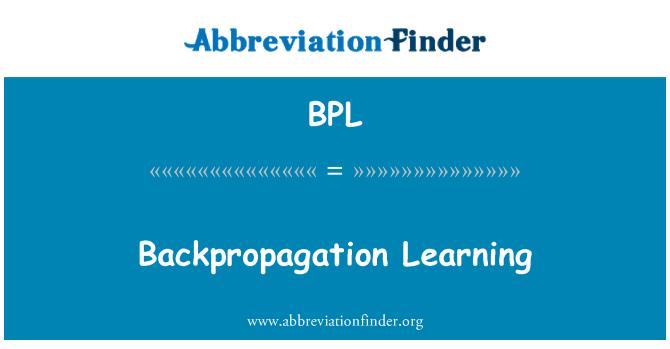 BPL: Backpropagation Learning