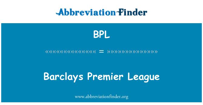 BPL: Barclays Premier League