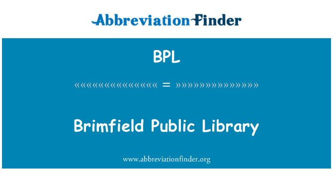 BPL: Brimfield Public Library