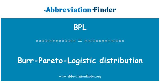 BPL: Burr-Pareto-Logistic distribution