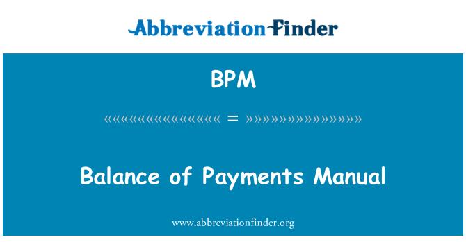 BPM: Balance of Payments Manual