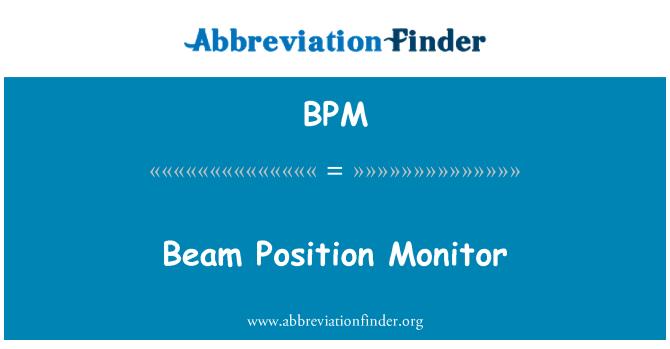 BPM: Beam Position Monitor