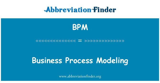 BPM: Business Process Modeling