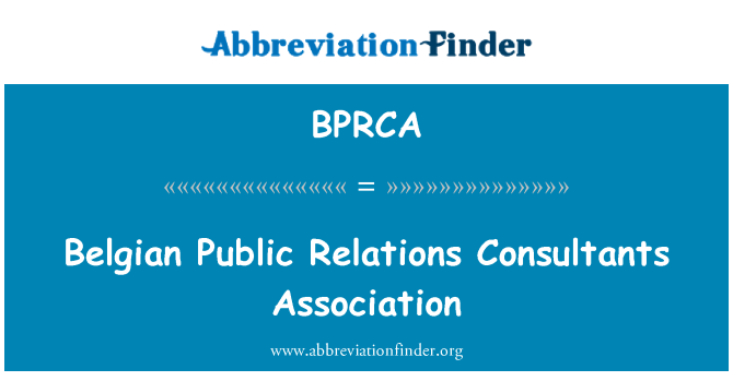 BPRCA: Belgian Public Relations Consultants Association