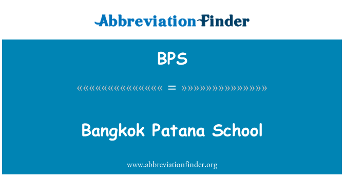 BPS: Bangkok Patana School