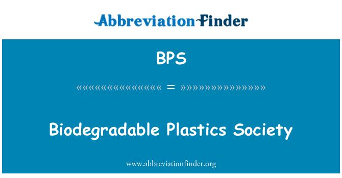 BPS: Biodegradable Plastics Society