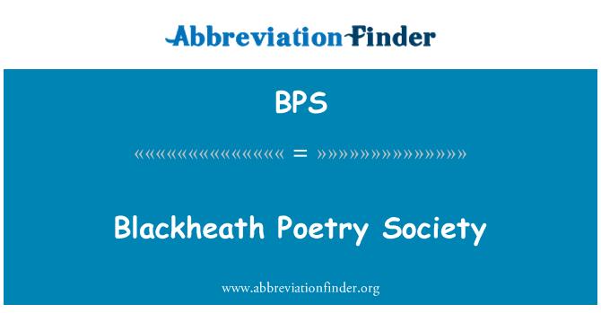 BPS: Blackheath Poetry Society