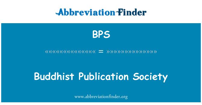 BPS: Buddhist Publication Society