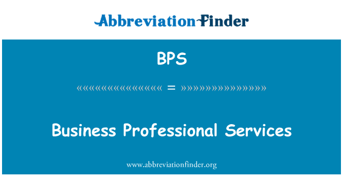 BPS: Business Professional Services