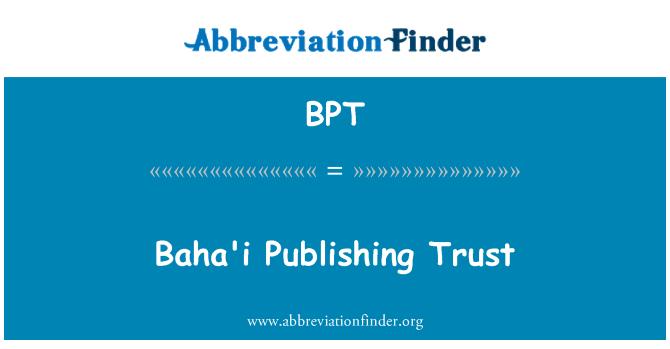 BPT: Baha'i Publishing Trust