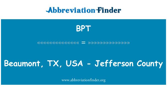 BPT: Beaumont, TX, USA - Jefferson County