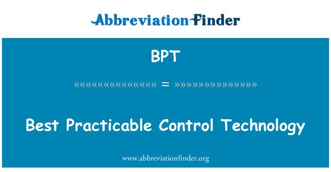 BPT: Best Practicable Control Technology