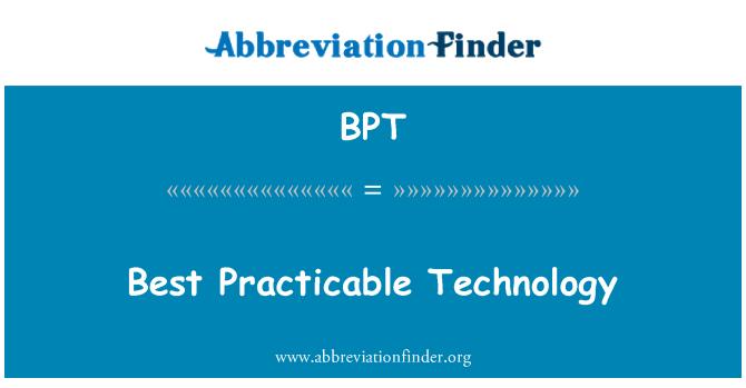 BPT: Best Practicable Technology