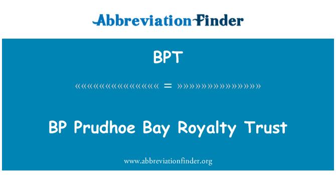 BPT: BP Prudhoe Bay Royalty Trust