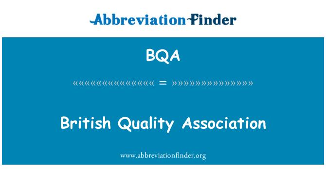 BQA: British Quality Association