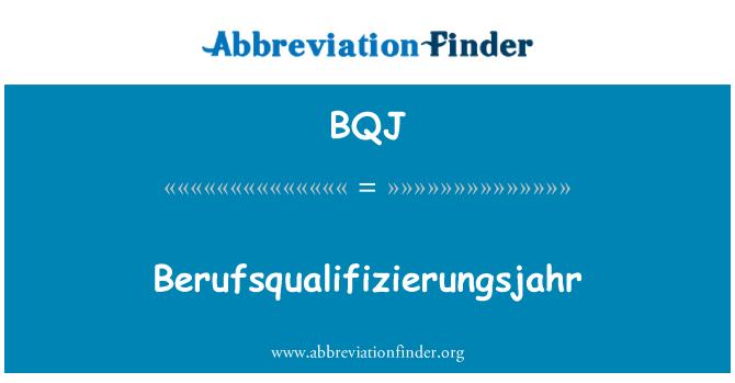 BQJ: Berufsqualifizierungsjahr