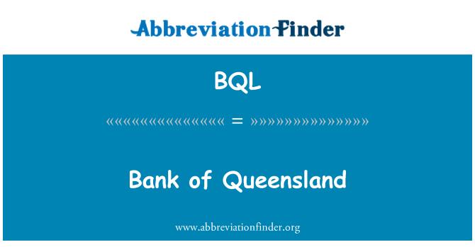 BQL: Bank of Queensland