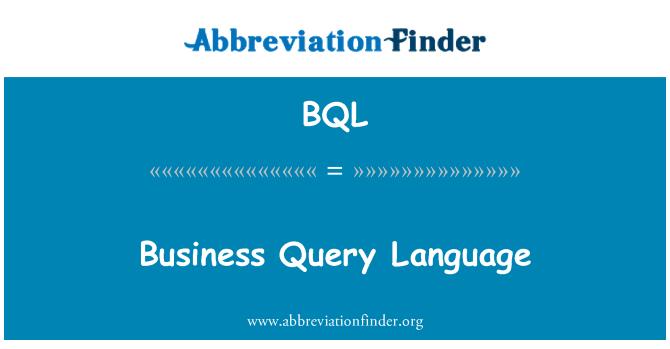 BQL: Business Query Language