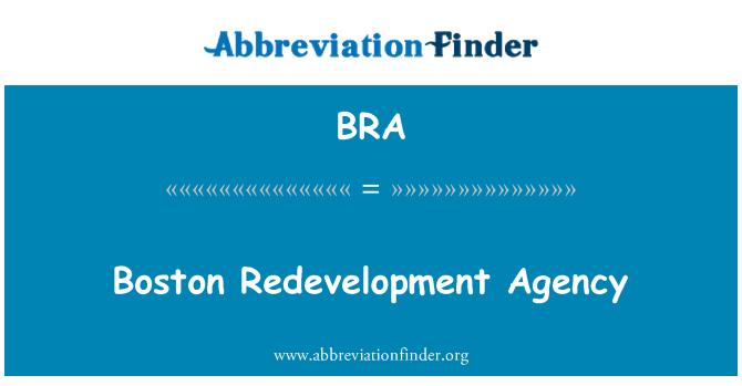 BRA: Boston Redevelopment Agency
