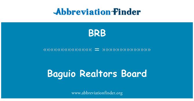 BRB: Baguio Realtors Board
