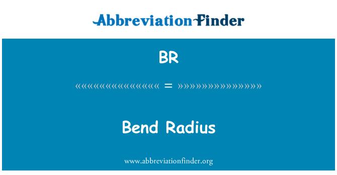 BR: Bend Radius