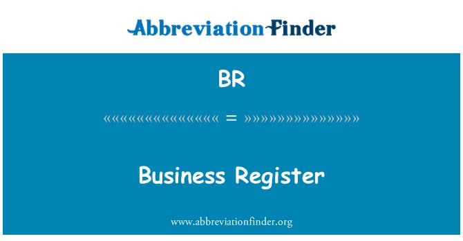 BR: Business Register