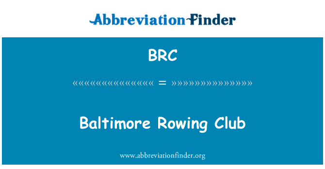 BRC: Baltimore Rowing Club