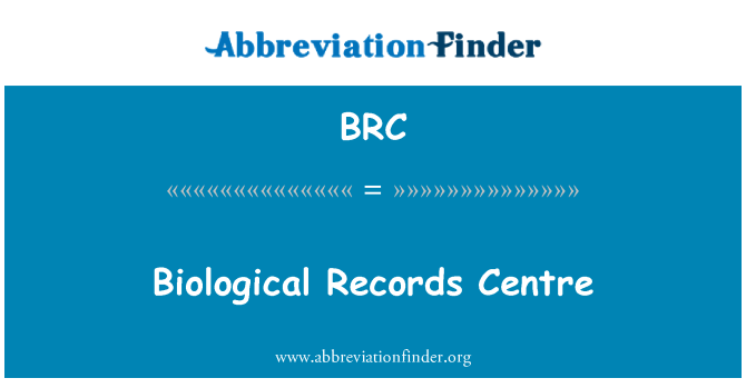 BRC: Biological Records Centre