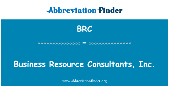 BRC: Business Resource Consultants, Inc.