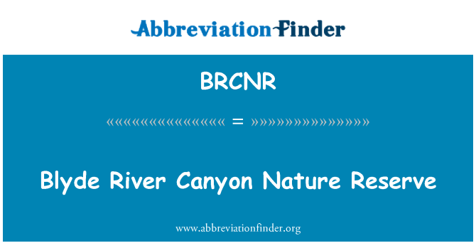 BRCNR: Blyde River Canyon Nature Reserve
