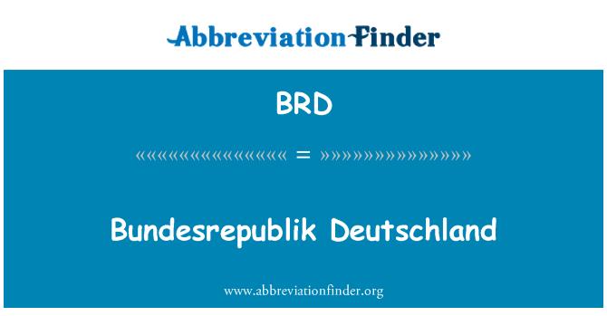 BRD: Bundesrepublik Deutschland