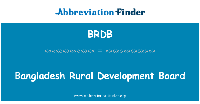Brdb Bangladesh Rural Development Board