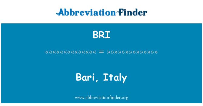 BRI: Bari, Italy