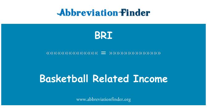 BRI: Basketball Related Income