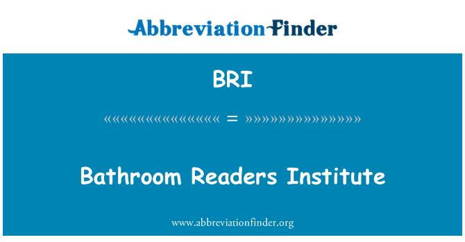 BRI: Bathroom Readers Institute