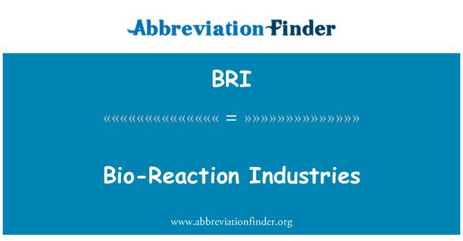 BRI: Bio-Reaction Industries