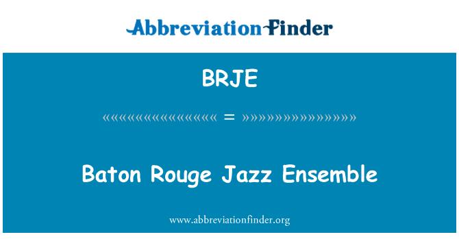 BRJE: Baton Rouge Jazz Ensemble
