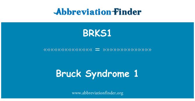 BRKS1: Bruck Syndrome 1