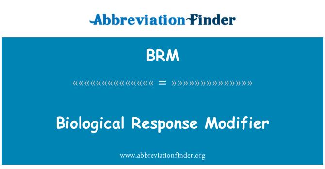 BRM: Biological Response Modifier