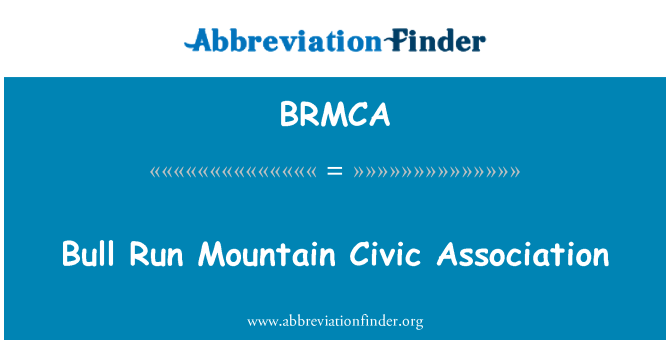 BRMCA: Bull Run Mountain Civic Association