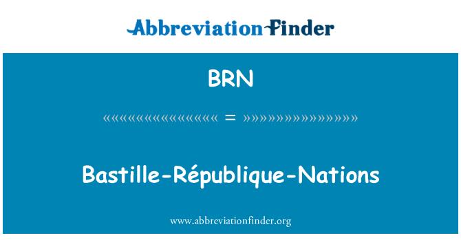 BRN: Bastille-République-Nations