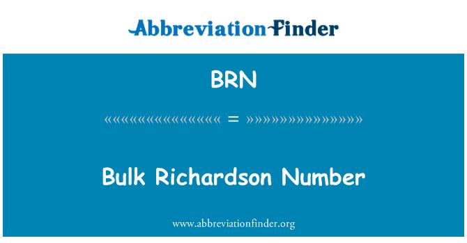 BRN: Bulk Richardson Number