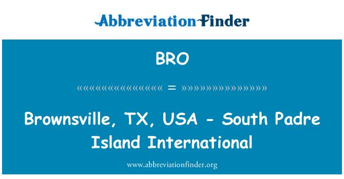 BRO: Brownsville, TX, USA - South Padre Island International