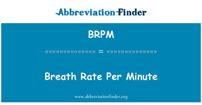 BRPM: Nefes hızı dakikada