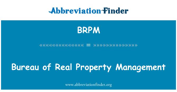 BRPM: Gayrimenkul yönetimi Bürosu