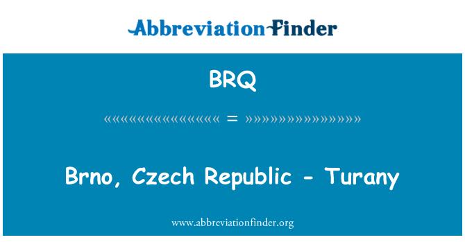 BRQ: Brno, Czech Republic - Turany