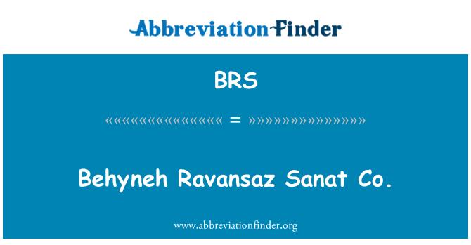 BRS: Behyneh Ravansaz Sanat Co.