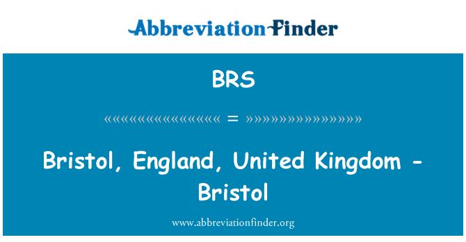 BRS: Bristol, England, United Kingdom - Bristol