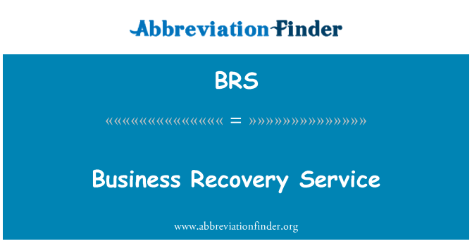 BRS: Business Recovery Service